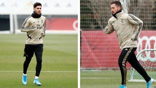 Asensio y Hazard ya corren con botas.