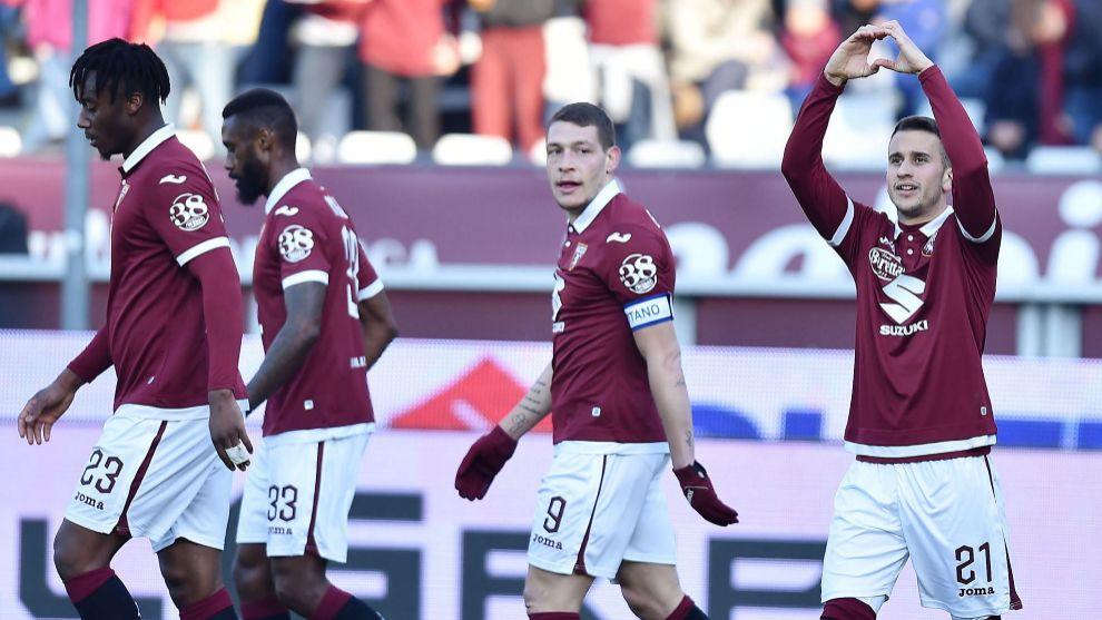 Berenguer festeja uno de los goles marcados esta temporada.
