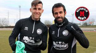 Juan Góngora y Cristian Portilla posan para MARCA.