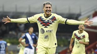 Nicolás Castillo, delantero del América