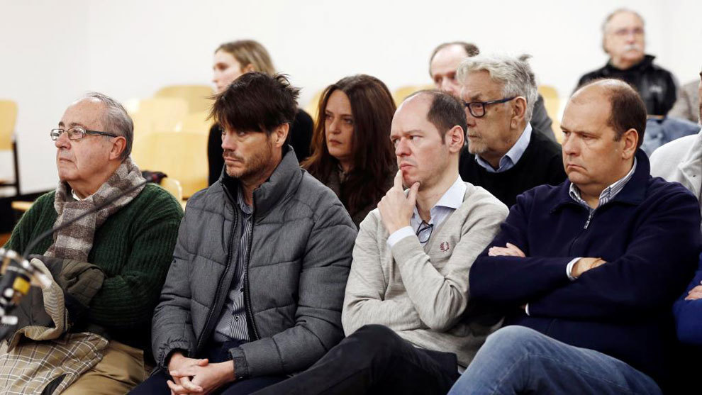 Ángel Vizcay, Diego Maquírriain, Sancho Bandrés y Jesús Peralta.