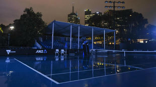 Una vista de una de las pistas del Melbourne Park