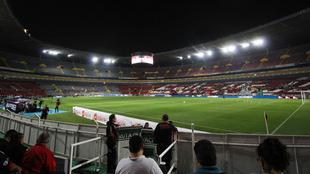 El Estadio Jalisco antes del partido ante Puebla.