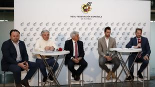 Fede Vidal, Venancio López, Pedro Rocha, Paco Sedano y Luis Amado en...