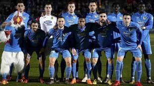 Once titular del Fuenlabrada para el último partido  ante el Málaga