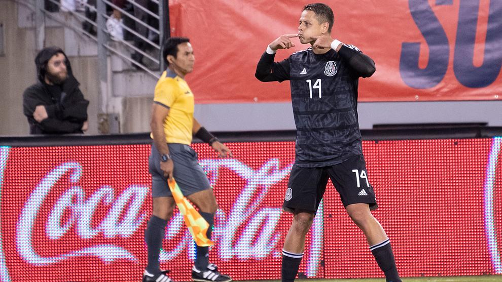 Chicharito Hernández, con la selección mexicana.