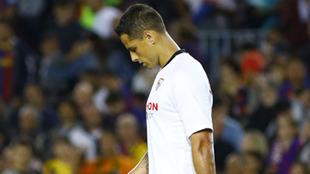 Chicharito en lamento con el Sevilla