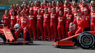 La última foto de Ferrari la pasada temporada en Abu Dabi.