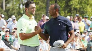 Rahm y Tiger en el pasado Masters de Augusta.