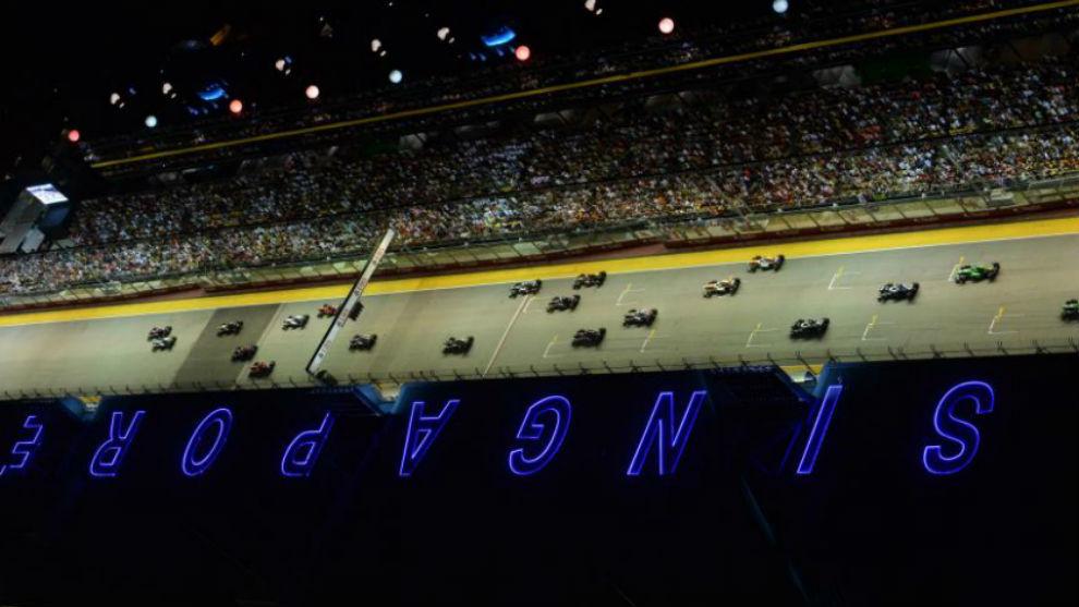 Salida del Gran Premio de Singapur