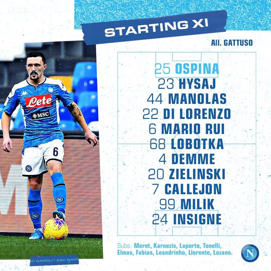 Napoli sin Chucky Lozano venció a la Lazio en Coppa Italia