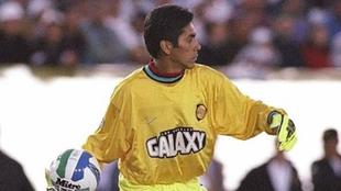 Jorge Campos en 1996 con LA Galaxy.