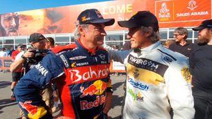 Jesús Calleja y Carlos Sainz Dakar 2020
