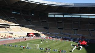 El Estadio de La Cartuja, durante una competición de niños.