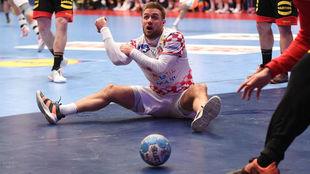 Luka Cindric, en el partido contra Alemania, el último que jugó en...