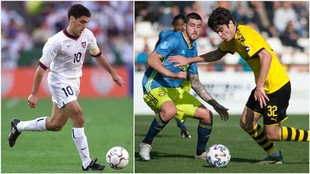 Claudio Reyna, a la izquierda, y Giovanni, a la derecha.
