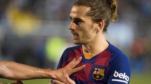 Griezmann en el partido contra el Ibiza