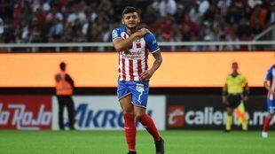 Alexis Vega, durante el partido de Chivas vs Dorados.