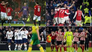 United, Arsenal, Tottenham y Sheffield United.