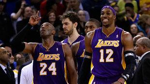 Kobe Bryant y Dwight Howard en su temporada juntos en los Lakers