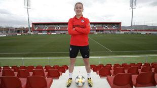 Carmen Menayo posa para MARCA en el Centro Deportivo Wanda.