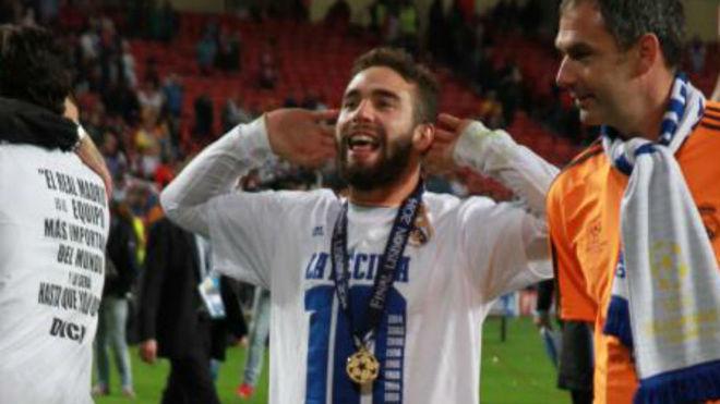 Carvajal celebrates Champions League win