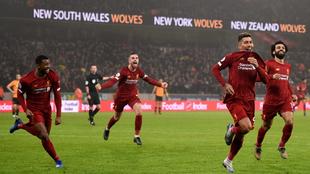 Firmino celebra su gol al Wolverhampton
