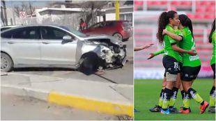 Jugadoras de las Bravas sufren accidente.