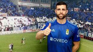 Rodri ya luce como nuevo jugador carbayón en el Carlos Tartiere
