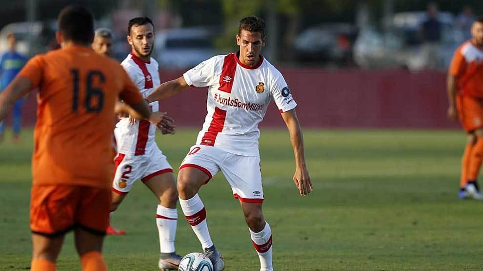 Álex Alegría, en un partido de pretemporada con el Mallorca