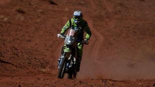 Edwin Straver durante el Rally Dakar