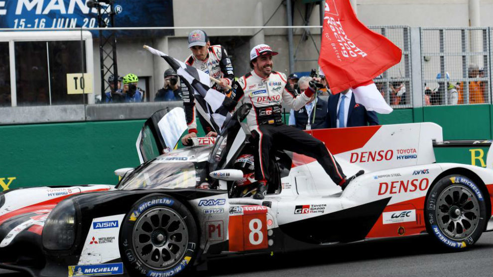 Alonso, vigente bicampeón consecutivo de las 24 Horas de Le Mans 2018...