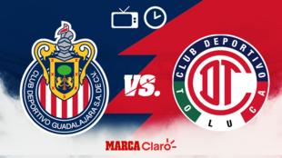 Chivas vs Toluca, horario y dónde ver.