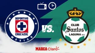 Cruz Azul vs Santos en vivo el partido de hoy de la jornada 3
