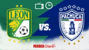 ¿A qué hora juegan hoy León vs Pachuca en vivo? Horario, streaming...