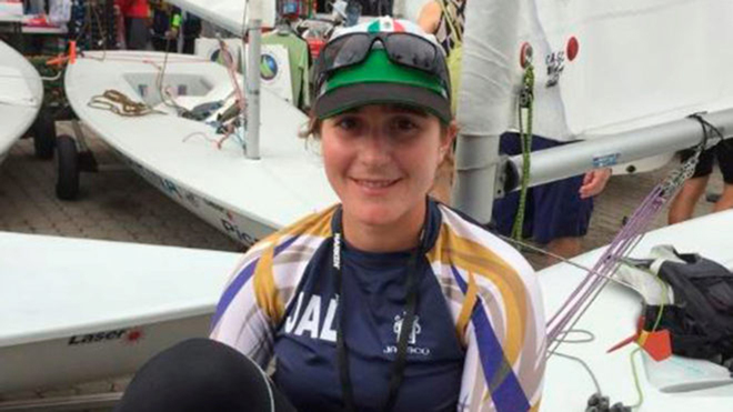 Elena Oetling, velerista mexicana.