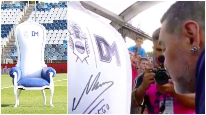 El nuevo sillón de Diego Maradona.