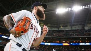 Dallas Keuchel en su paso por los Astros.