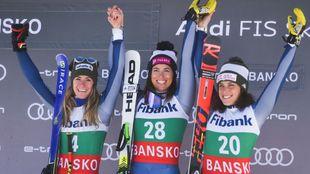 Triplete italiano hoy en el segundo descenso de Bansko con victoria de...