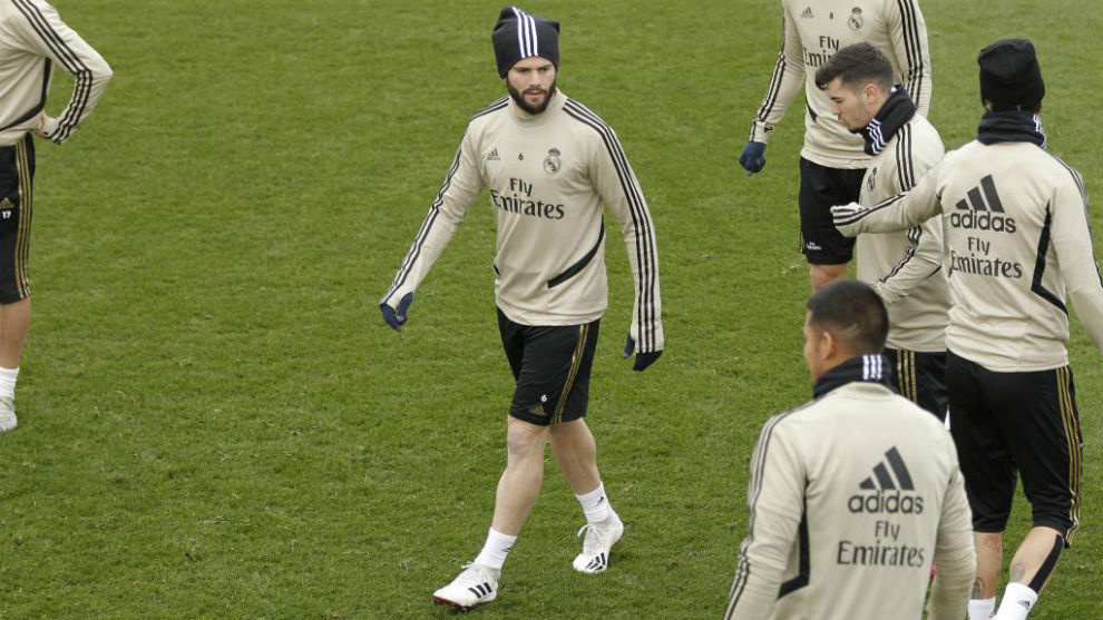 Nacho trains at Valdebebas.