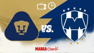 ¿A qué hora juegan los  Pumas ante Monterrey? Horario, canales de TV...