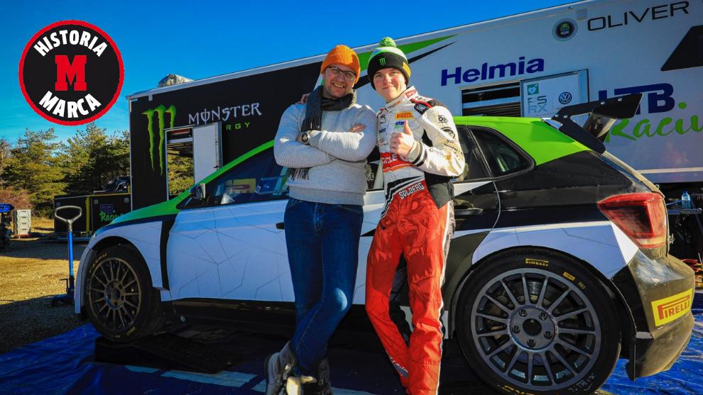 Petter y Oliver Solberg, en Montecarlo.