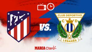 Atlético de Madrid vs Leganés: Horario y dónde ver.