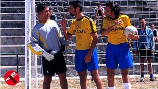 Secun de la Rosa, Ernesto Alterio y Fernando Tejero, en una escena de...
