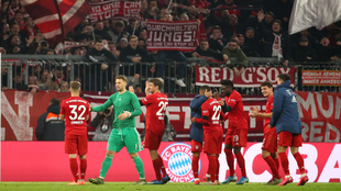 Bayern celebrando la goleada