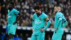 Umtiti, Messi y Alba.