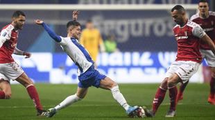 Un lance de la final entre Sporting Braga y Oporto
