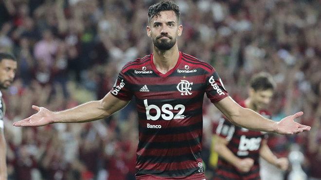 Marí celebra un gol con el Flamengo.