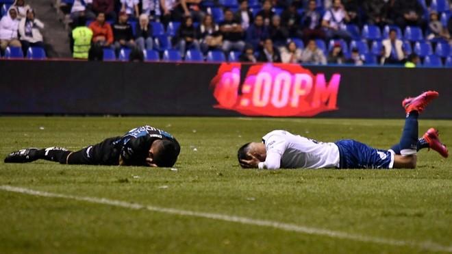Fuerte golpe el sufrido entre Paganoni y Hernández.