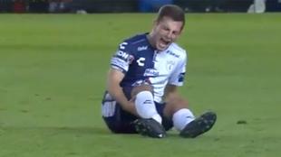 Momento de la lesión de Pizzuto.